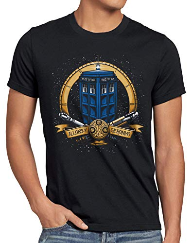 style3 Geronimo T-Shirt Herren zeitreise Serie Polizei notrufzelle, Größe:L