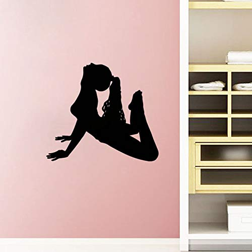 Tianpengyuanshuai Etiqueta de la Pared del Atletismo de la Mujer Fitness Etiqueta de la Pared decoración del hogar Vinilo extraíble Pintura de la Pared 59x66 cm