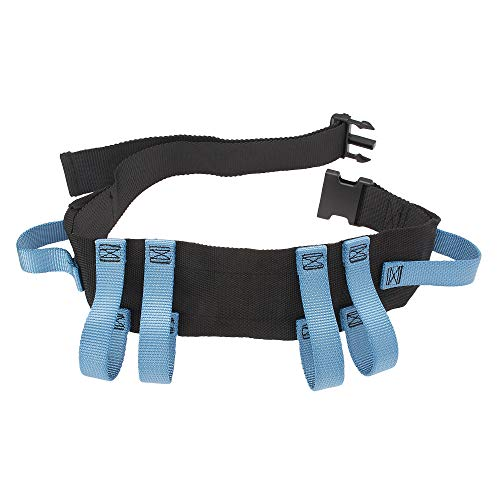 Asatechmed Utility Gait Belt with 6 Handles, Straps and Quick Release Buckle - Patient Transfer Belt for Elderly, Fall Risk, Rehabilitation - Ambulation Mobility Aid Wide Strap Gait Belt 54'