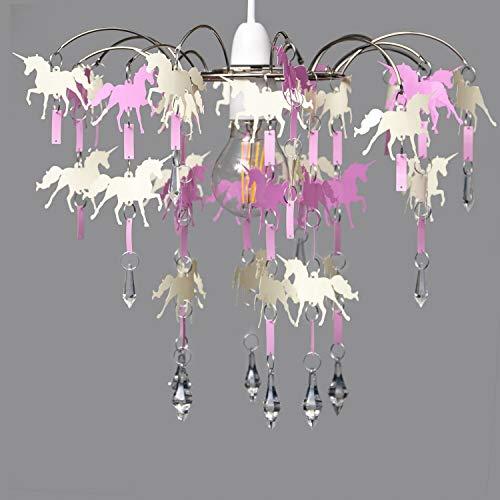 Home Treats Lampenschirme in 6 stilvollen Hängelampen-Designs, Einhorn, Kristall, Kronleuchter,...
