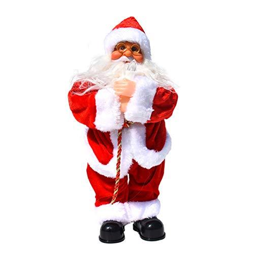 Musikalisches Weihnachtsmann Spielzeug, Batteriebetriebene Elektrische Weihnachtsfigur für Lustige Weihnachts Kinder Geschenke und Weihnachtsdekorationen (Batterie Nicht Enthalten) (Kerze)