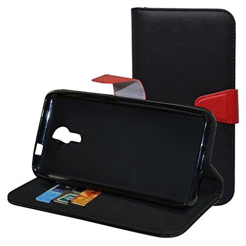 Mama Mouth Portafoglio Custodia in PU di Cuoio Pelle con Supporto Carte di Credito in Piedi Caso Case per Wiko Ufeel Prime Smartphone