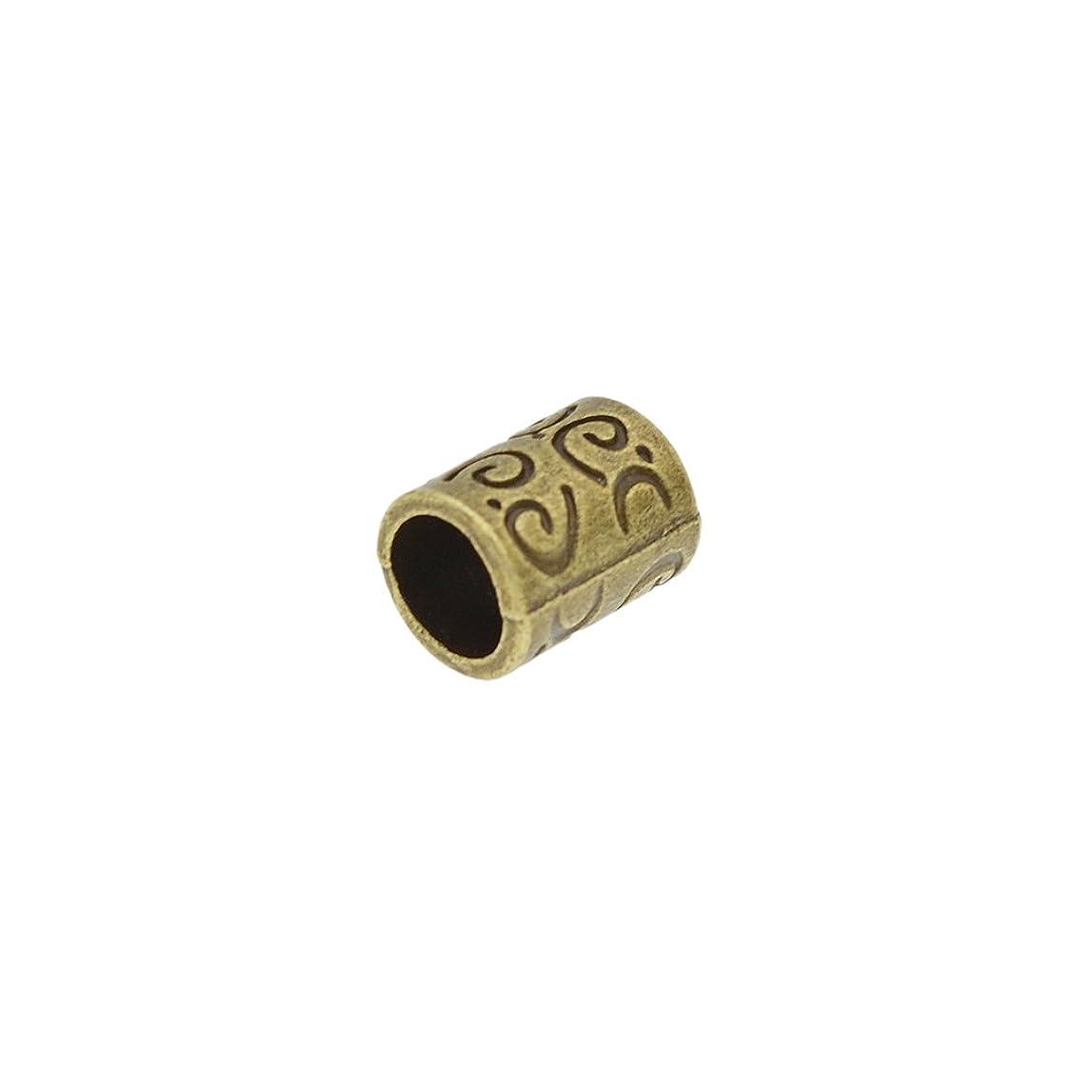 起業家ガソリン発言する(ライチ) Lychee 10個セット ドレッドロックス カフ シンプル アンティーク調 髪飾り 三つ編み ラッパー レゲエ ヒップホップ 内径0.58cm 長さ1cm