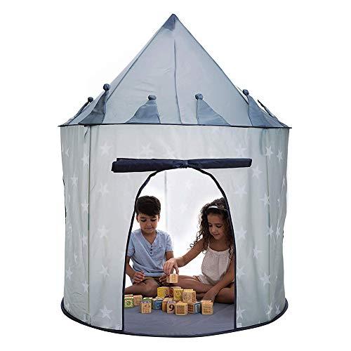 Lina13Wu Faltbare Indoor Kinder Kinder Spiel Zelt jurte Schloss Tipi spielhaus Spielzeug Form Einer Burg (zur Verwendung drinnen oder draußen)- Grau