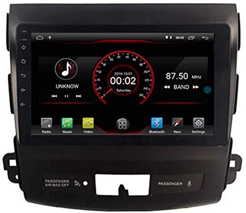 FWZJ Autosion 9 Pulgadas en el Tablero Android 10 Car DVD Player Radio Head Unit Navegación GPS Estéreo para Mitsubishi Outlander Citroen C-Crosser Peugeot 4007 Soporte Bluetooth SD USB Radio OBD