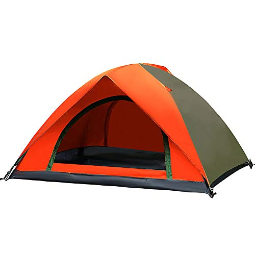 LWLPAI Small Dome Tent With Full Standing Head Height, 100% Waterproof Family Camping Tent With Sewn In Groundsheet,2 Persons Mantent