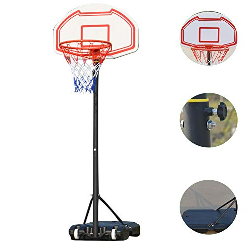 DT Basketballständer Basketballkorb 155-210CM Kinder Einstellbare Basketballständer mit Ständer Tragbar Korbanlage Outdoor Basketballanlage Höhenverstellbar