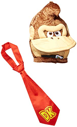 Disguise Men's Super Mario Donkey Kong Costume Kit, Brown, One Size