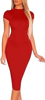 Best red cap sleeve midi dress Reviews
