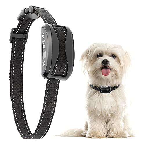 Collar Antiladridos para Perros, Collar Adiestramiento Sin Descarga Eléctrica con 7 Niveles Sensibilidad, para Perros Pequeños, Medianos y Grandes, IP3 y Recargable