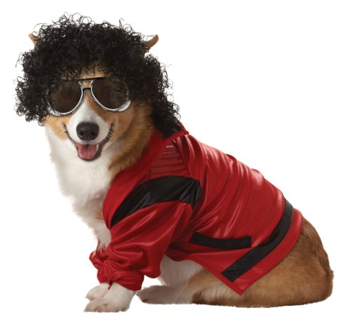 Pup-A-Razzi Pop King Dog Costume, Red/Black