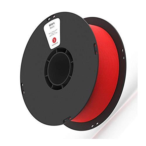 3D Printing Filament 1kg, PETG K5 3D Filament 1.75mm, Food Contact Grade Material, High Light Transmittance-Red