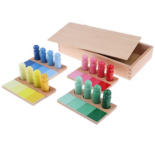 F Fityle Montessori pädagogische Spielzeug - Sortieren und Stapeln Spiel, Farben, Math Lehrmittel - # 2