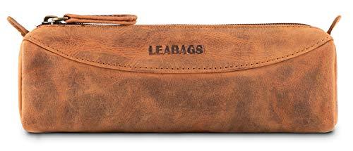 LEABAGS Fort Rock - Astuccio in vera pelle di bufalo, effetto vintage, Fox. (Marrone) - 4250918933211