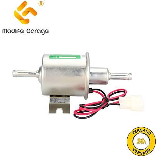 Madlife Garage - Bomba eléctrica de combustible diesel y gasolina de baja presión; compatibilidad universal 12V 1,2A (modelo: HEP-02A)