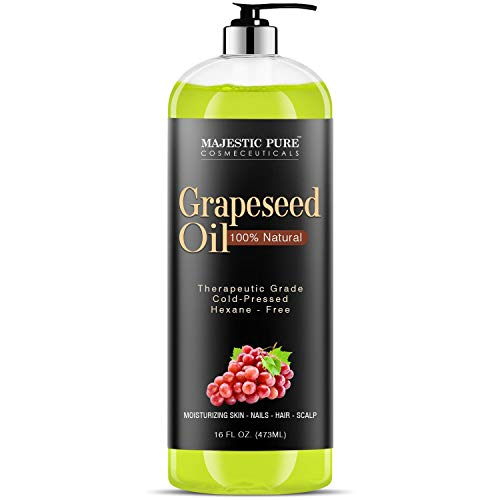 Majestic Pure Grapeseed Oil, Pure & Natural Massage and Carrier Oil, (Packaging May Vary) - 16 fl. oz.