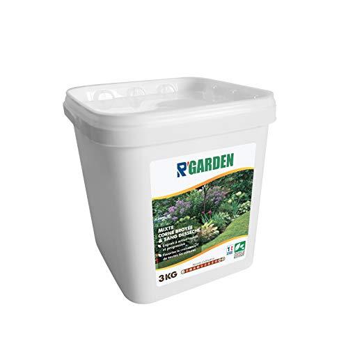 R'Garden | Engrais Organique Mixte Corne et Sang | Engrais Ecologique | Fertilisant Naturel | Nourrit en Profondeur | Facile d'Utilisation | 3KG