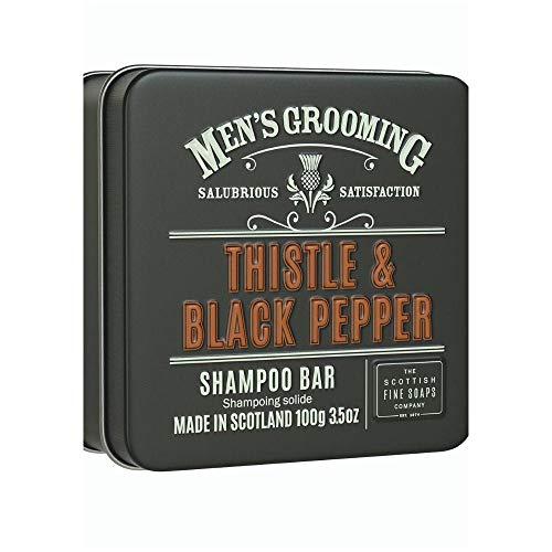 Men's Grooming by Scottish Fine Soaps Thistle & Black Pepper Shampoo Bar 2 x 100g