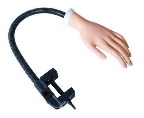 Übungshand mit Tischhalterung und beweglichen Fingern für Nagelmodellage & Nageldesign