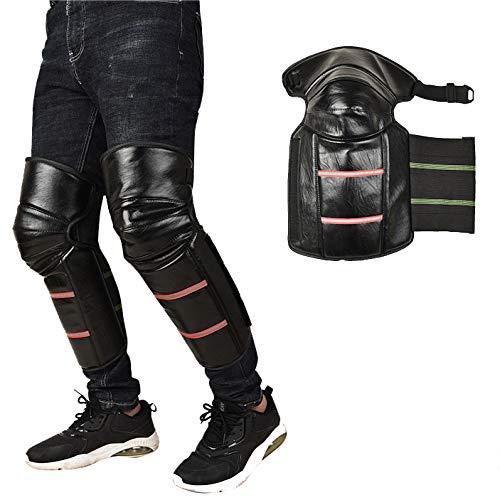 Rodillera Cálida para Motocicleta, Protector De Rodilla para Montar En Motocicleta De Invierno A Prueba De Viento A Prueba De Frío con Diseño De Tira Reflectante para Montar Al Aire Libre,A