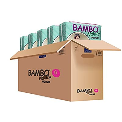 Bambo Nature Eco Friendly Premium Training Pants for Sensitive Skin, Size 6 (40+ lbs), 90 Count(5 Packs of 18)