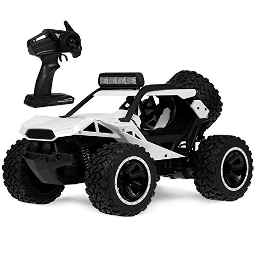 Carro de Control Remoto 2.4Ghz Desert Buggy 25 kilometros/h Desierto Todo Terreno RC Camiones de 3 Colores Disponibles Coche eléctrico de RC (Color : White, Size : One Size)