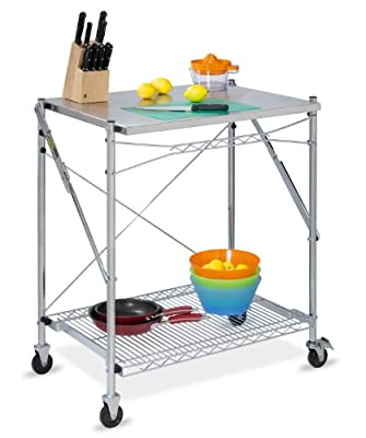 Honey-Can-Do TBL-01566 Stainless Steel Folding Urban Work Table, Grey from Honey-Can-Do