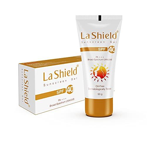 La Shield, SPF 40+ and Pa+++ Anti Acne Sunscreen Gel, Unscented, 60 g