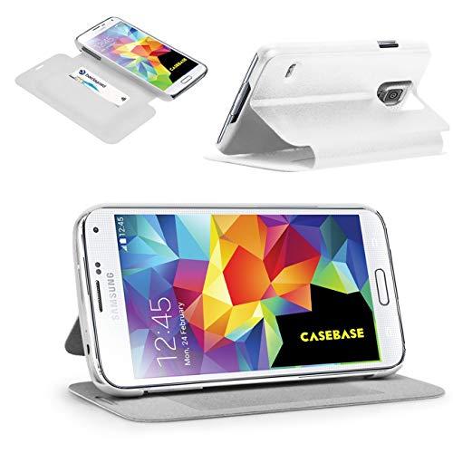 CaseBase SS Folio Cover Protettiva per Samsung Galaxy S5 (SM-G900) - Bianco