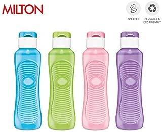 MILTON New Zeal Flip Lid Water Bottle for Home & Outdoor use - BPA Free Leak Proof & Reusable 4 Piece Set, 25 oz, Multicolor