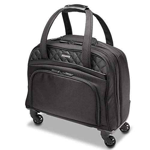 Kensington Laptop Roller Case - Contour 2.0 Executive Balance Laptop Spinner for up to 15.6' Inch Laptops, Wheeled Laptop Case with Tote Bag Style, Ideal Cabin Bag for Women (K60380WW) Black