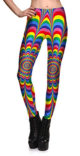 Coralup Little Girls Colorful Stretch Leggings Tights 3D Printing Casual Pants Full Length 2-10Years