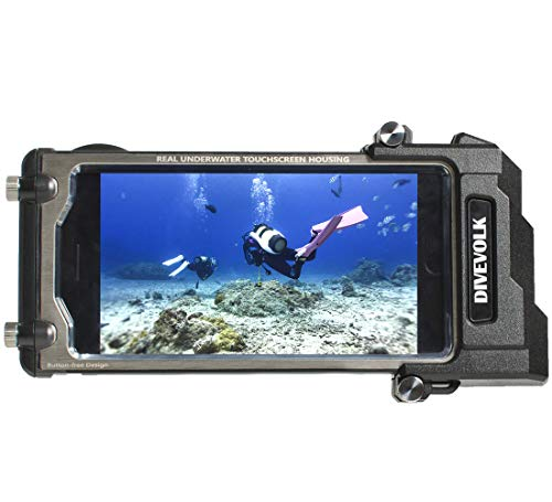 DIVEVOLK Underwater camerea Diving case compatiable with iPhone SE2/6/7/8/ Plus/X/XS/XS Max,Perfect iPhone Diving Case for Surfing Swimming and Snorkeling