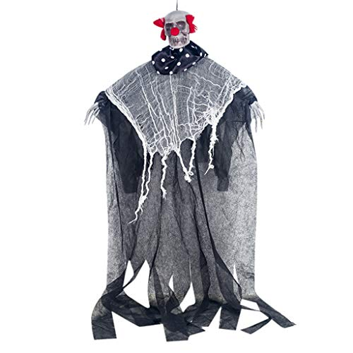 Amcool Neu Halloween Dekoration, Gruselig Animierter Hexe Skelettgeist Geist Gespenst Hängend als Halloween Dekoration für Halloweendeko