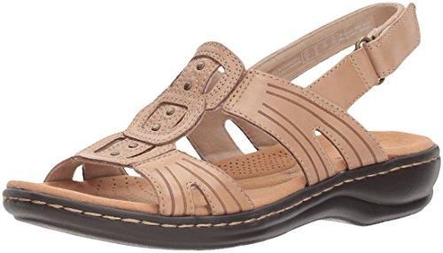 Clarks Women's Leisa Vine Platform, Sand Leather, 7.5 Medium US