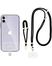 Sinjimoru Cell Phone Lanyard for Phone Case (2Packs), with Adjustable Phone Strap for Wrist Compatible with Key Holder & ID Card Holder. Sinji Strap