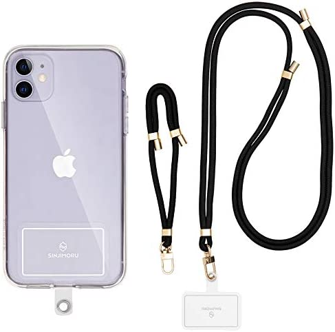 Sinjimoru Cell Phone Lanyard for Phone Case 2Packs with Adjustable Phone Strap for Wrist Compatible product image