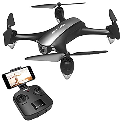 tech rc GPS FPV Drone with 1080P 120°POV Camera Live Video and GPS Auto Return Home Quadcopter Camcorder for Adults with HD Wide-Angle camera, Follow Me, Altitude Hold, WiFi 5Ghz Remote Control