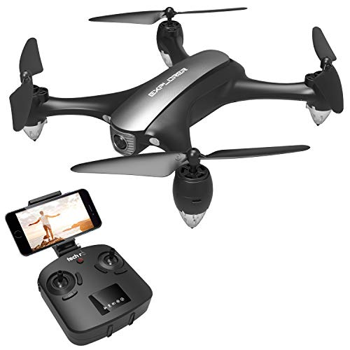 tech rc Drone GPS Videocamera 1080P WiFi 5G 120 ° FOV Live Video, Ritorno Automatico a Bassa Potenza e modalità Seguimi e Volo Circondare , modalità Senza Testa, Un Pulsante di Decollo/Atteraggio