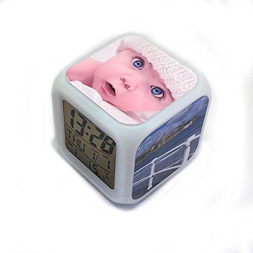 DKORA-T - Reloj Despertador Personalizado 3 Caras