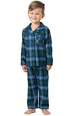 PajamaGram Heritage Plaid Button-Front Toddler Pajamas 3T