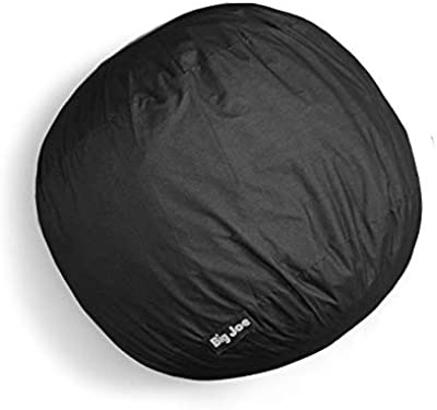 Big Joe Large Denim Lenox Black Fuf Removable Foam Filled Bean Bag Covers