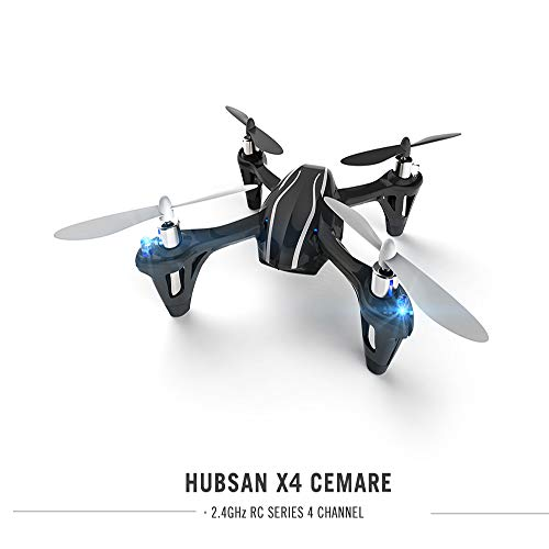 HUBSAN X4 H107L Drone 2.4G 4CH Mini RC Quadcopter with LED Lights and LED Lights Propeller Rotor Protection Guard Toys Drone Gift