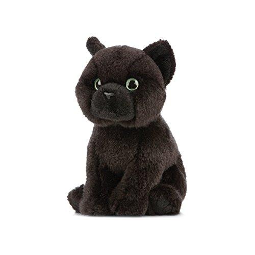 Living Nature Soft Toy - knuffeldier Bombay babykat, zwart (16cm)