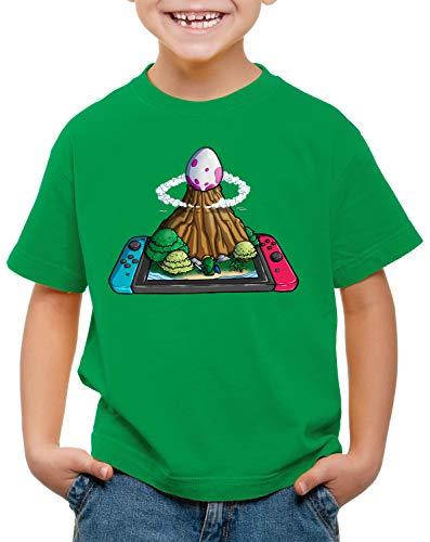 style3 Huevo de Pez del Viento Switch Camiseta para Niños T-Shirt Link Princesa Awakening, Color:Verde, Talla:116