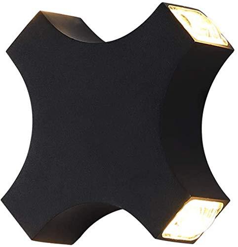 Despeje LED moderno 12W lámparas de pared dormitorio cuadrado negro lámpara de pared IP44 lámpara de pared a prueba de agua interior / al aire libre iluminación de pared al aire libre pared foco de fo