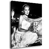 Grace Kelly Leinwand-Kunst-Poster und Wand-Kunstdruck,