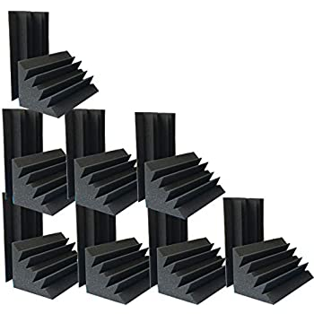 """4.72""""x4.72""""x9.6"""" Sale Acoustic Foam 16 PCS in Black Bass trap Soundproof foam"""
