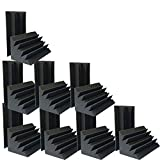 "Hot 4.72""x4.72""x9.6"" Sale Acoustic Foam 16 PCS in Black Bass trap Soundproof foam"