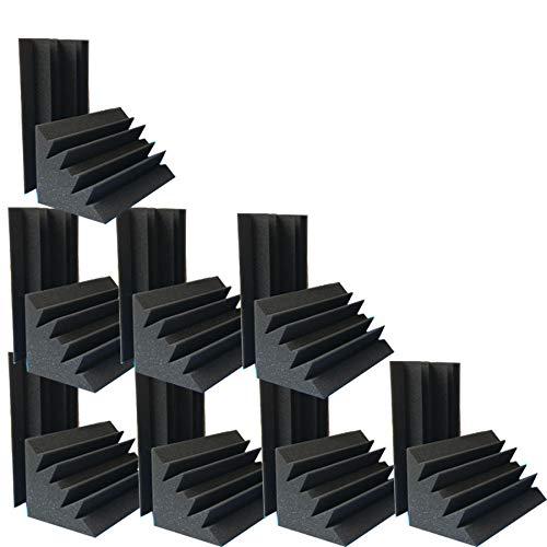 Juego de 16 piezas de espuma acústica insonorizada para esquinas de...